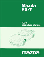 Product picture 1993 MAZDA RX7 RX-7 WORKSHOP SERVICE REPAIR MANUAL