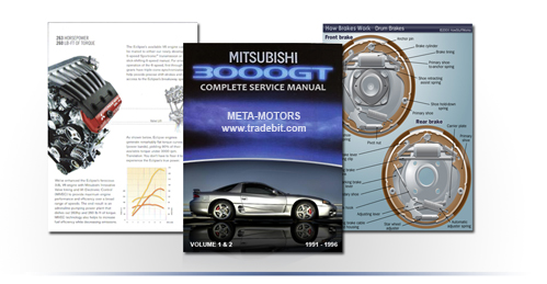 Product picture MITSUBISHI 3000GT SL VR-4 SERVICE REPAIR MANUAL UPDATED